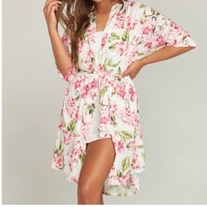 Show me your Mumu OS floral High Low Robe